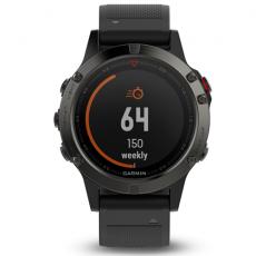 Умные часы Garmin Fenix 5 Sapphire с GPS, с черным ремешком и пульсометром, фото 2