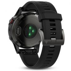 Умные часы Garmin Fenix 5 Sapphire с GPS, с черным ремешком и пульсометром, фото 3