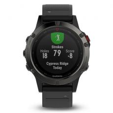 Умные часы Garmin Fenix 5 Sapphire с GPS, с черным ремешком и пульсометром, фото 5