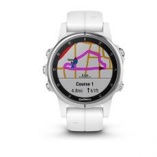 Умные часы Garmin Fenix 5S PLUS Sapphire, белые с белым ремешком, фото 2
