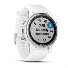 Умные часы Garmin Fenix 5S PLUS Sapphire, белые с белым ремешком, фото 3