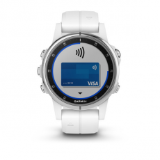 Умные часы Garmin Fenix 5S PLUS Sapphire, белые с белым ремешком, фото 4