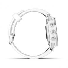Умные часы Garmin Fenix 5S PLUS Sapphire, белые с белым ремешком, фото 5