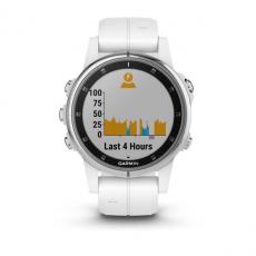 Умные часы Garmin Fenix 5S PLUS Sapphire, белые с белым ремешком, фото 7