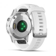 Умные часы Garmin Fenix 5S PLUS Sapphire, белые с белым ремешком, фото 8