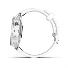 Умные часы Garmin Fenix 5S PLUS Sapphire, белые с белым ремешком, фото 9