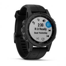 Умные часы Garmin Fenix 5S PLUS Sapphire, черные с черным ремешком, фото 2