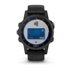 Умные часы Garmin Fenix 5S PLUS Sapphire, черные с черным ремешком, фото 3