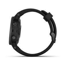 Умные часы Garmin Fenix 5S PLUS Sapphire, черные с черным ремешком, фото 4