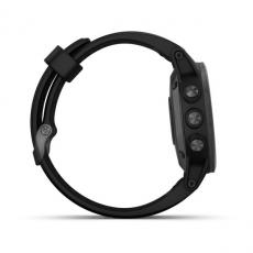 Умные часы Garmin Fenix 5S PLUS Sapphire, черные с черным ремешком, фото 5