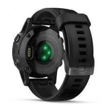 Умные часы Garmin Fenix 5S PLUS Sapphire, черные с черным ремешком, фото 8
