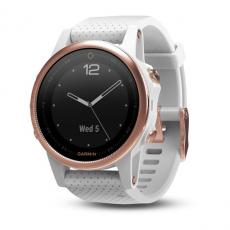 Умные часы Garmin Fenix 5S Sapphire с GPS, розовое золото с белым ремешком, фото 1