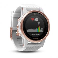 Умные часы Garmin Fenix 5S Sapphire с GPS, розовое золото с белым ремешком, фото 2