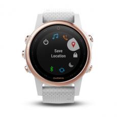 Умные часы Garmin Fenix 5S Sapphire с GPS, розовое золото с белым ремешком, фото 3