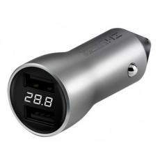 Автомобильное зарядное устройство Xiaomi ZMI, 2 USB-A, 3А, серебристый, фото 1