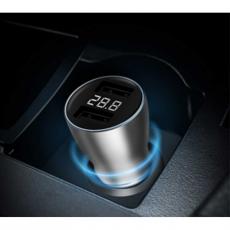 Автомобильное зарядное устройство Xiaomi ZMI, 2 USB-A, 3А, серебристый, фото 3