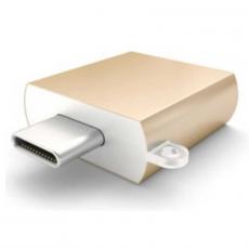 Адаптер Satechi, с USB-C на USB-A, золотой, фото 2