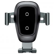 Беспроводная зарядка-автодержатель Baseus Metal Wireless Charger Gravity Car Mount, чёрный, фото 1