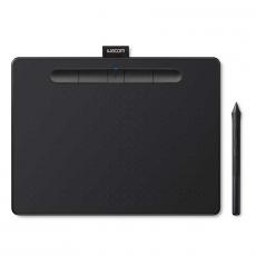 Графический планшет Wacom Intuos M with Bluetooth, чёрный, фото 1
