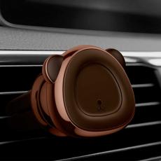 Держатель автомобильный Baseus Bear, магнитный, коричневый, фото 2