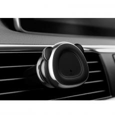 Держатель автомобильный Baseus Bear, магнитный, серый, фото 3