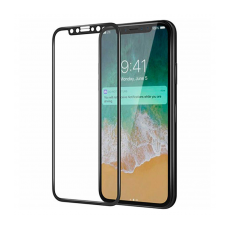 Защитное стекло для iPhone X, 0.05mm, чёрный, фото 1