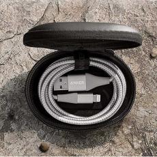 Кабель Anker PowerLine+ II, с USB-A на Lightning, 1,8 м, 30000+ перегибов, серебристый, фото 3