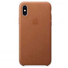 Чехол-накладка Apple для iPhone Х/Xs, кожаный, коричневый, фото 1