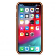 Чехол-накладка Apple для iPhone Х/Xs, кожаный, коричневый, фото 3