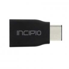 Переходник Incipio, с USB-C на USB-A, чёрный, фото 1