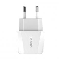 Сетевое зарядное устройство Baseus, 2 USB, 2,1A, белый, фото 2