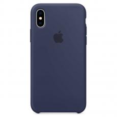 Чехол Apple силиконовый для iPhone XS, тёмно-синий, фото 1