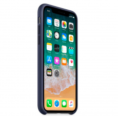 Чехол Apple силиконовый для iPhone XS, тёмно-синий, фото 3