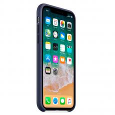 Чехол Apple силиконовый для iPhone XS Max, тёмно-синий, фото 3