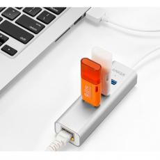 Хаб Anker Aluminium с Ethernet Hub и USB-А, серебристый, фото 3