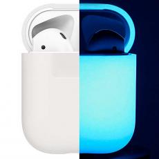 Чехол силиконовый Elago для AirPods Nightglow blue, белый\синий, фото 1