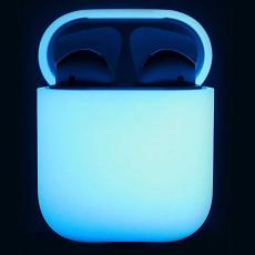 Чехол силиконовый Elago для AirPods Nightglow blue, белый\синий, фото 2
