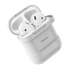 Чехол с держателем Baseus для наушников Apple AirPods, серый, фото 1