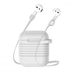 Чехол с держателем Baseus для наушников Apple AirPods, серый, фото 3