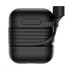 Чехол с держателем Baseus для наушников Apple AirPods, черный, фото 1
