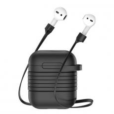 Чехол с держателем Baseus для наушников Apple AirPods, черный, фото 2