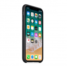 Чехол-накладка Apple для iPhone XS, силикон, чёрный, фото 3