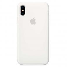 Силиконовый чехол для iPhone XS Max, белый, фото 1