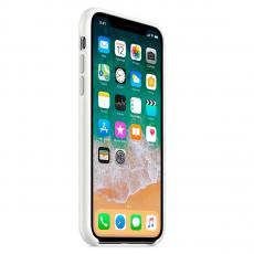 Чехол Apple силиконовый для iPhone XS, белый, фото 3