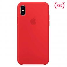 Чехол Apple силиконовый для iPhone XS, красный, фото 1