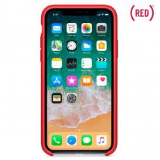 Чехол Apple силиконовый для iPhone XS, красный, фото 2