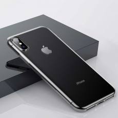Чехол-накладка Baseus Simplicity Series для iPhone Xs Max, полиуретан, прозрачный, фото 4