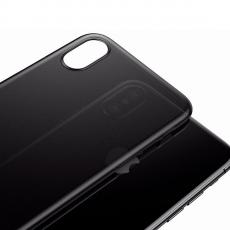 Чехол Baseus wing для iPhone XS Max, прозрачный чёрный, фото 5