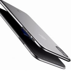 Чехол Baseus wing для iPhone XS Max, прозрачный чёрный, фото 4