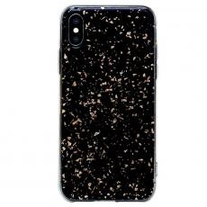 Чехол Bling My Thing Chic Collection, Gold Galaxy для iPhone XS/X, чёрный, фото 2
